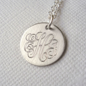 Men's Classic Sterling Silver Monogram Necklace - necklaces
