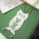 Vintage Lace Owl Necklace