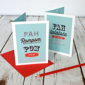 Set Of Six Personalised Christmas Cards