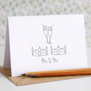 Mr And Mr Wedding Card - shop by category