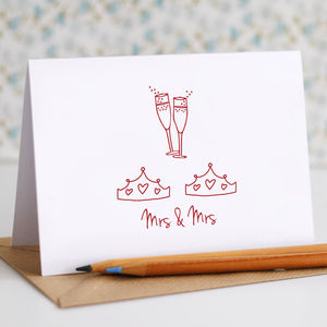 Mrs And Mrs Wedding Card - wedding cards
