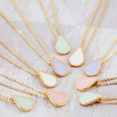Delicate Pastel Teardrop Necklace