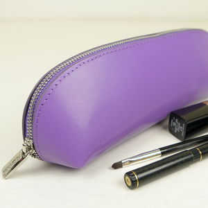 Slim Leather Make Up Bag - make-up & wash bags