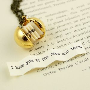 Secret Message Ball Locket Necklace - personalised