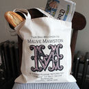 Personalised Vintage Monogram Tote Bag