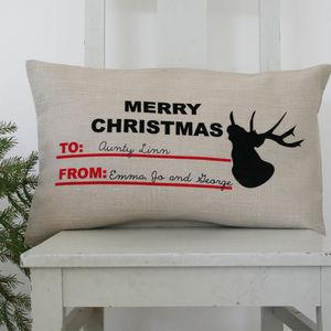 Christmas Sack Style Cushion - christmas home accessories