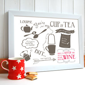 'Just My Cup Of Tea' Friendship Print - home accessories