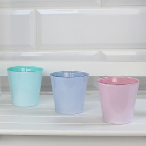 Three Pastel Sorbet Tea Light Holders