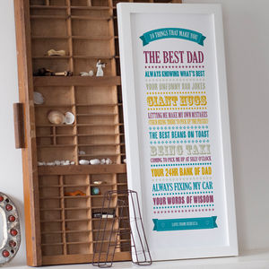 Personalised '10 Things Best Dad' Print - posters & prints