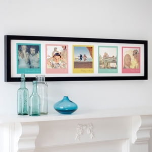 Personalised Colourful Retro Photo Print