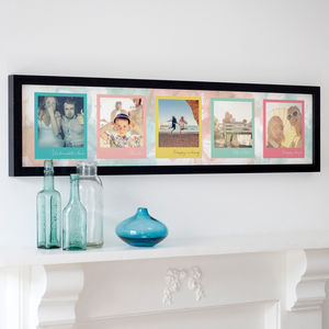 Personalised Colourful Polaroids Print - spring home updates