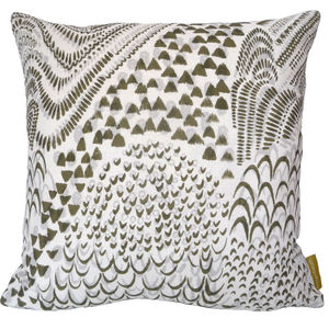 Starling Olive Cushion Cover - cushions