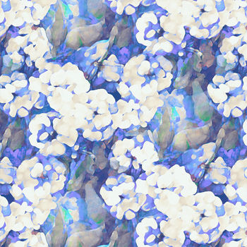 Rosa Blue Fabric
