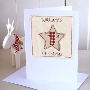 Personalised 1st Christmas Card - cards