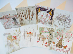 'Wildwood' Eight Pack Christmas Cards - cards & wrap