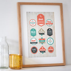 Personalised Adventures Print - posters & prints for children