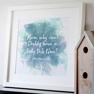 Personalised Quote Print - posters & prints