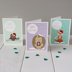 Forest Friends Christmas Card Six Pack - christmas card packs