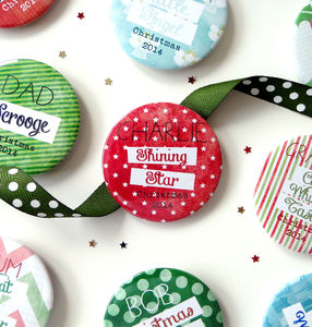 Personalised Christmas Name Setting And Role Badges - christmas jewellery