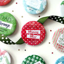 Personalised Christmas Name Setting And Role Badges