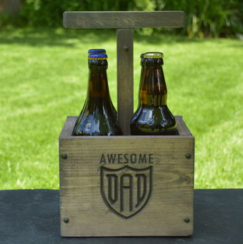Engraved Detonator Style Beer Crate For Dad