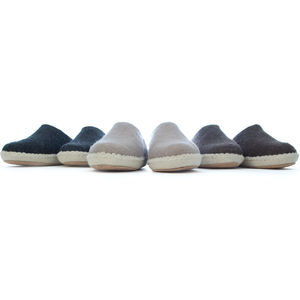 Woolsies Handmade Breathable Mule Slippers - women's fashion