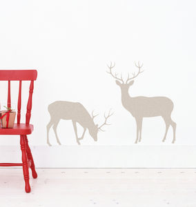 Reindeer Silhouette Wall Stickers - office & study