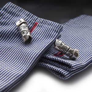 Personalised Cufflinks With A Twist - cufflinks