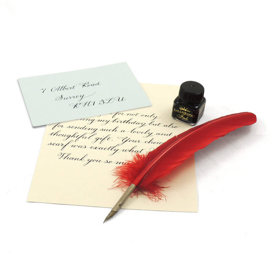 quill pen and ink set by able labels | notonthehighstreet.com