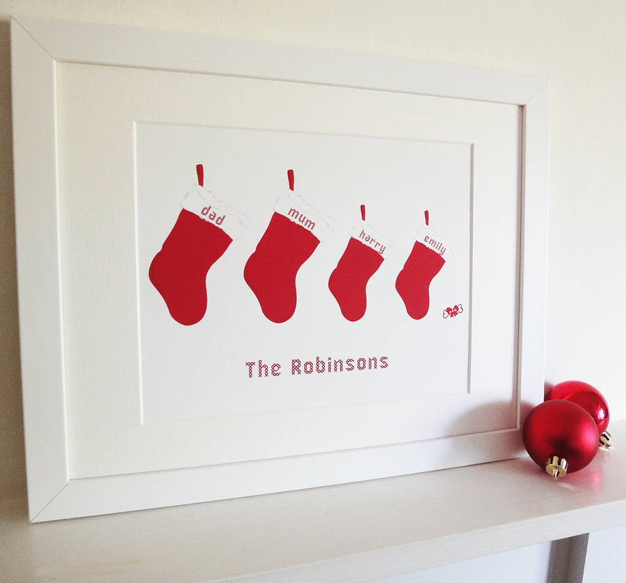 7db54efb personalised christmas stocking print by white hanami ...