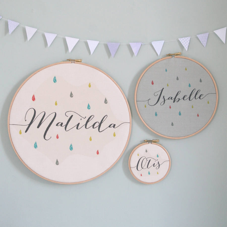 personalised baby name hoop by modo creative  a8ab5201ab52d
