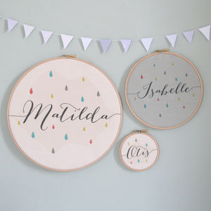 Personalised Baby Name Hoop - children's decorative accessories