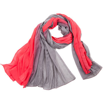 red and grey Large Ombre Scarf