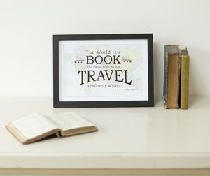 Travel Quote Map Prints