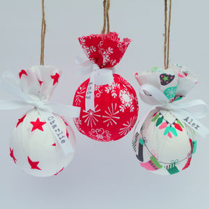 Personalised Fabric Bauble