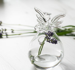 Glass Angel Vase Large - living room