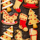 Homemade Shortbread Box Of Nine Mini Christmas Biscuits