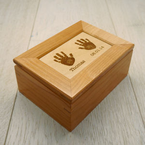 Wooden Handprint Keepsake Box