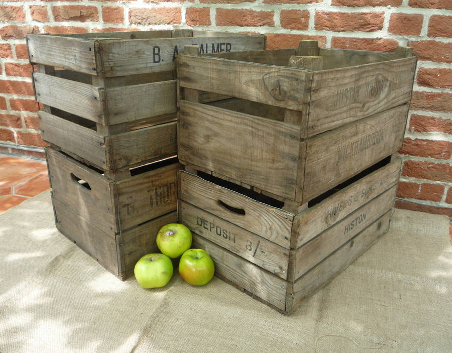 vintage apple crate by vintage crates