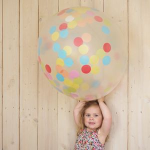 Giant Confetti Balloon - room decorations