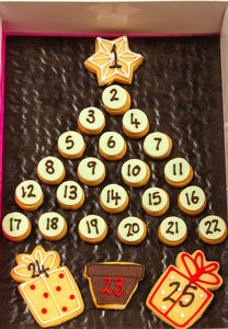 Homemade Shortbread Christmas Advent Tree - advent calendars
