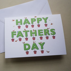 Fathers Day Topiary Card