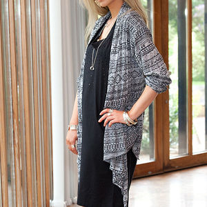30% Off Waterfall Drape Cardigan - luxury fashion