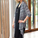 Black Aztec Waterfall Drape Cardigan
