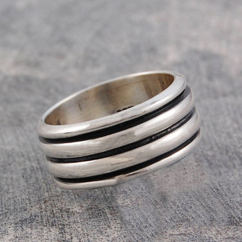 Men's Sterling Silver Spinning Ring