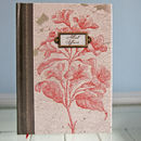 Vintage Book Style Notebook