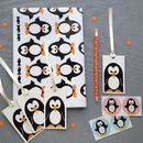 Penguin Wrapping Paper And Gift Wrap Set