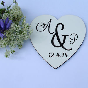 Heart Shaped Monogram Coaster
