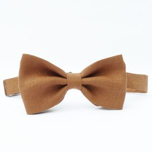Boys Linen Bow Tie - wedding and party outfits