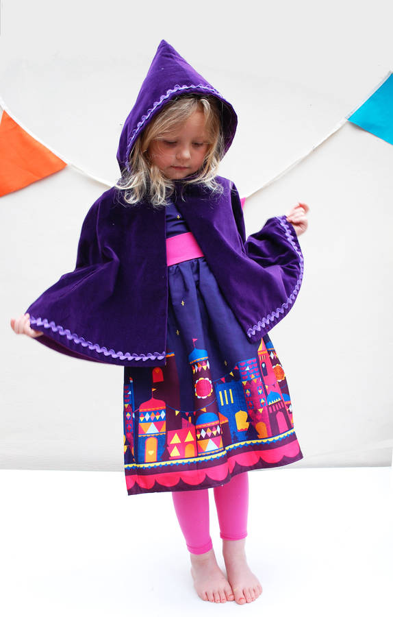 girls purple moon and stars print party dress by wild things funky ...